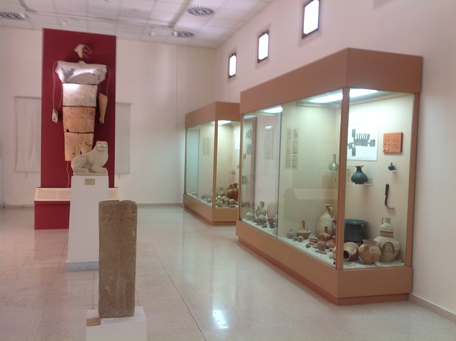 Polis-Archeological-Museum-Artefacts-include-one-of-the-largest-clay-statues-found-in-Cyprus-from-Marion-Arsinoe